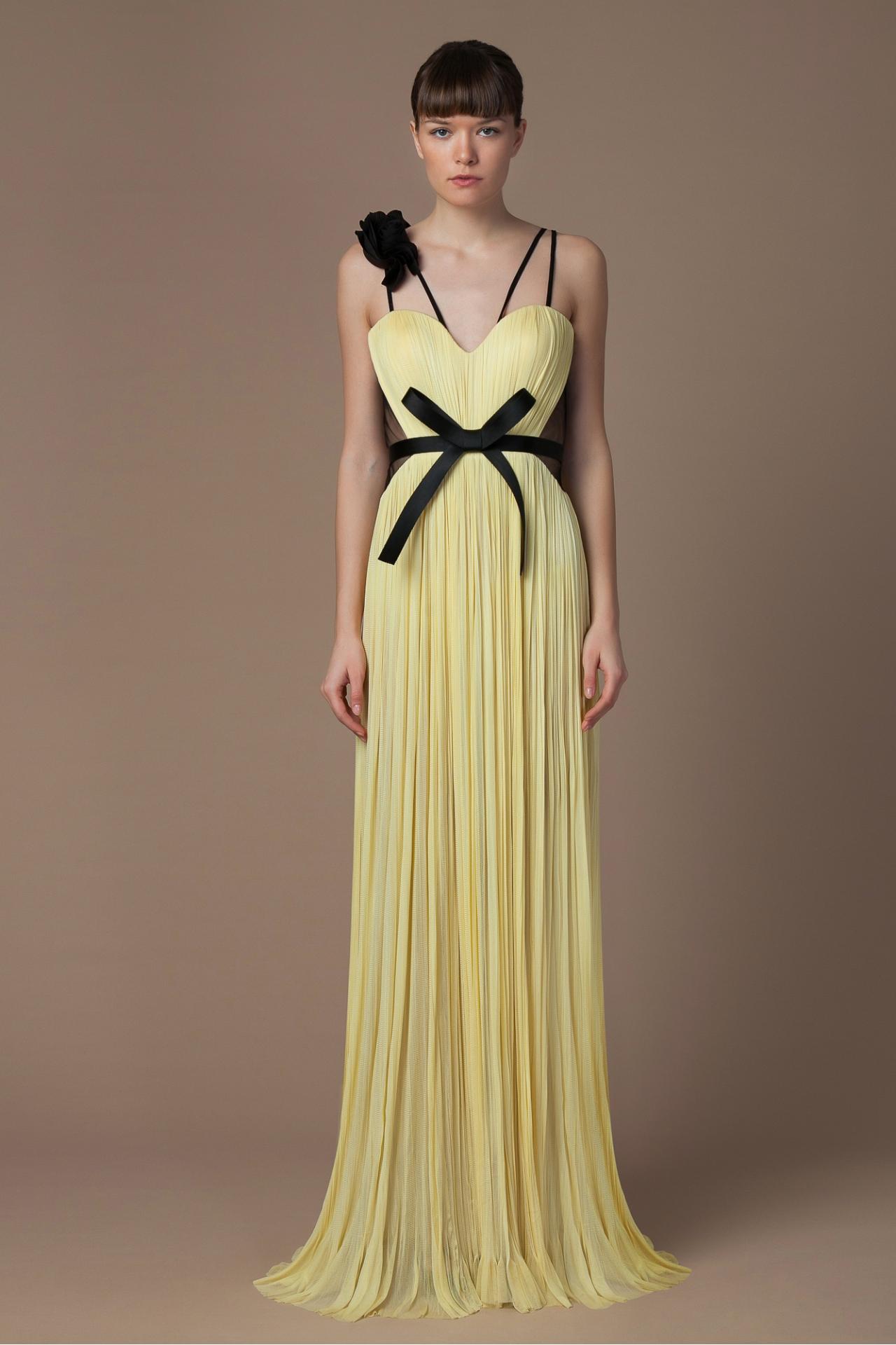 Silk corset evening gown