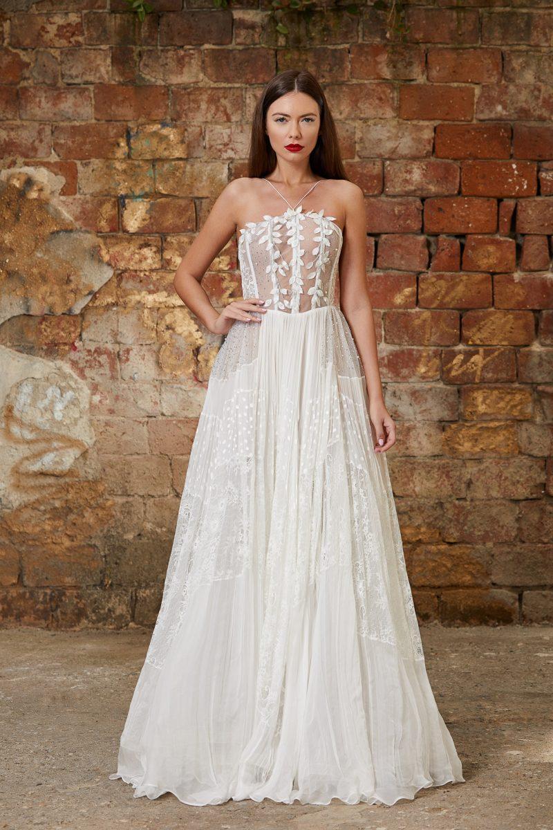 Embellished corset bridal gown