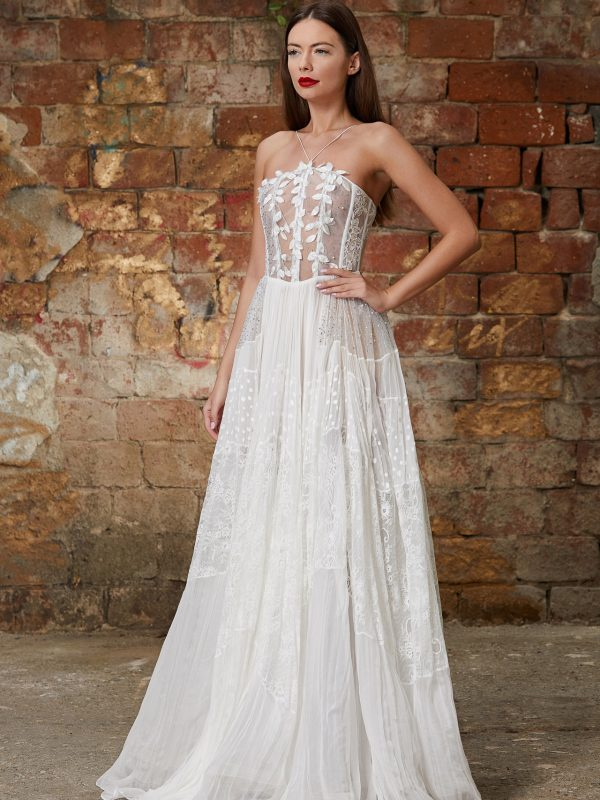 Embellished corset bridal gown