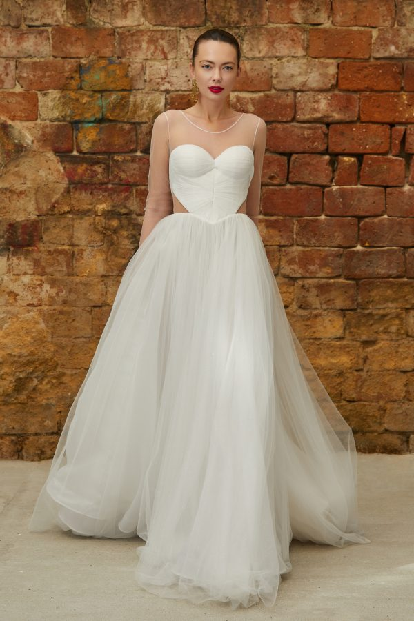 Princess sweetheart bridal gown