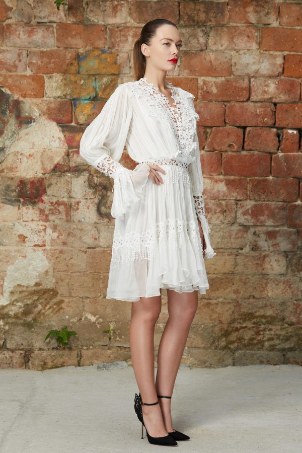Bohemian silk lace dress