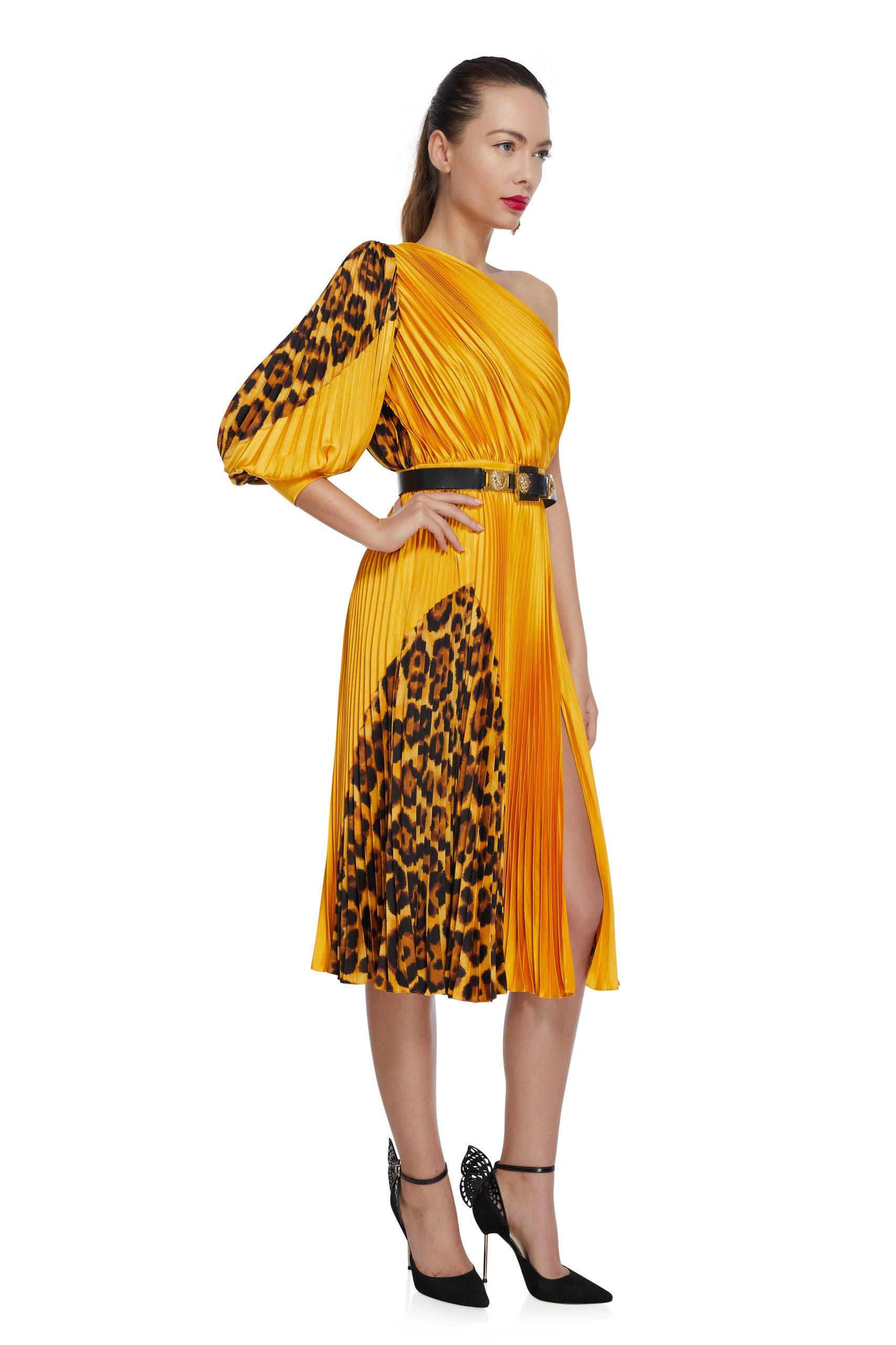 Animal print cocktail dress