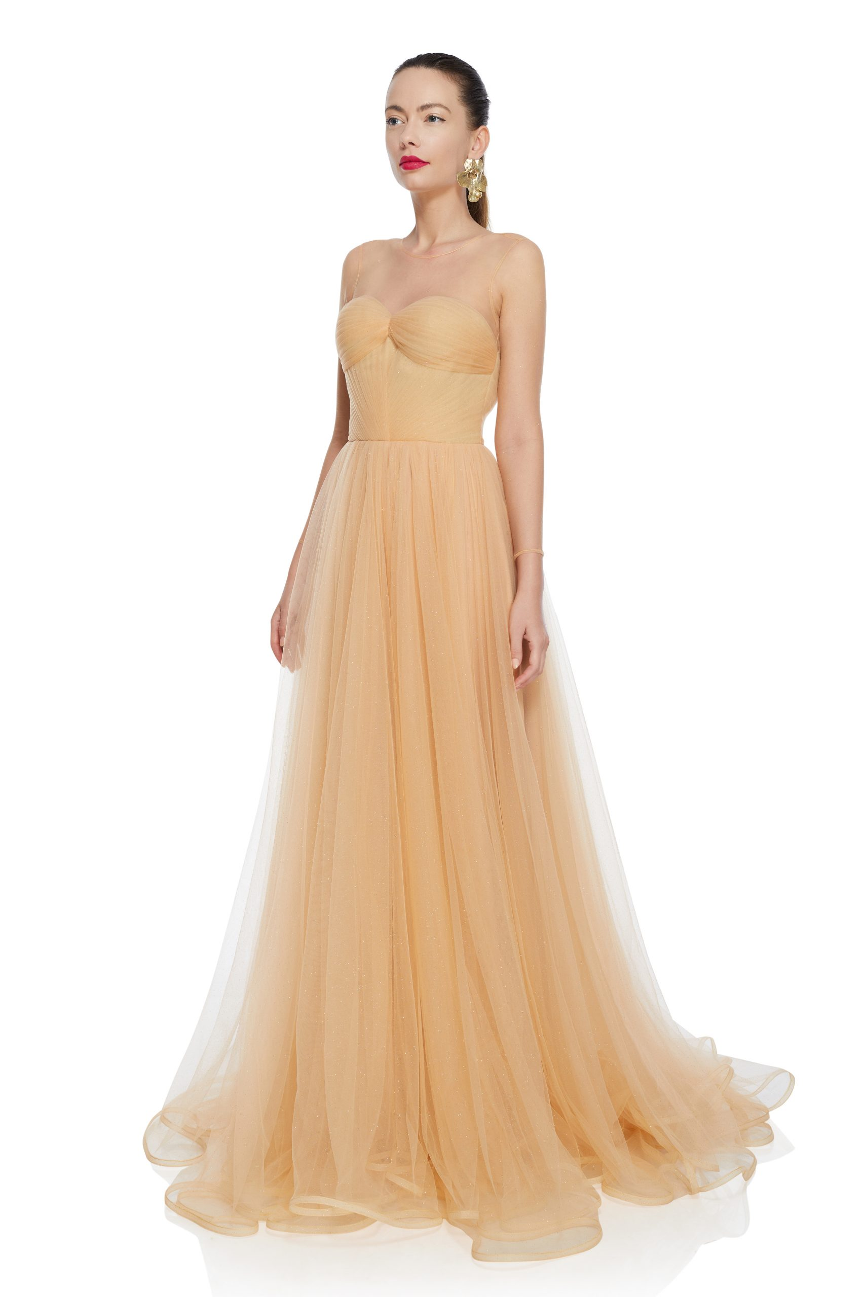 Princess style evening dress