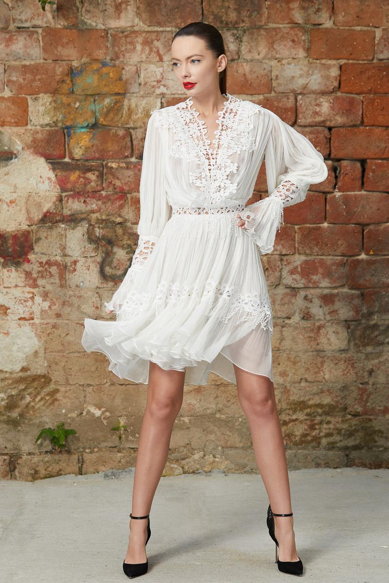 Bohemian silk lace dress