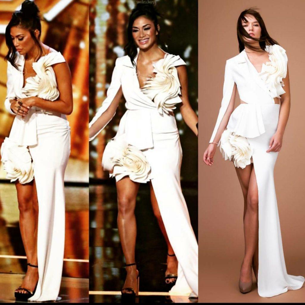 Nicole Scherzinger wearing Ramira dress attending to X factor UK