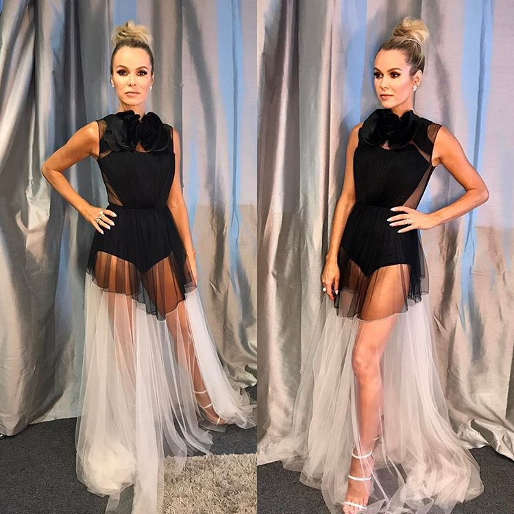 Amanda Holden wearing our soft Sashra tulle gown at GBT event