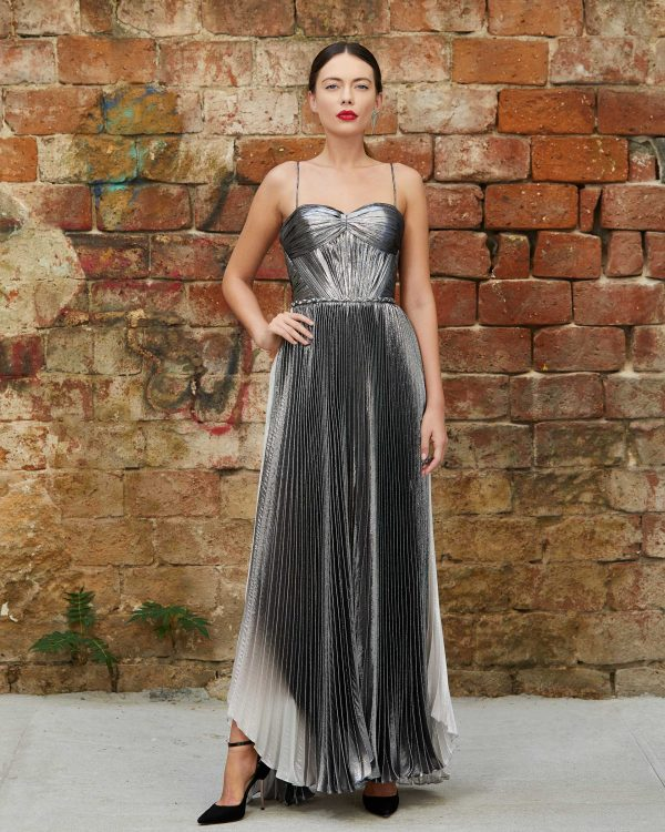 Metallic ombré evening gown