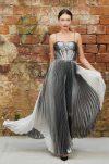 Metallic ombré evening gown