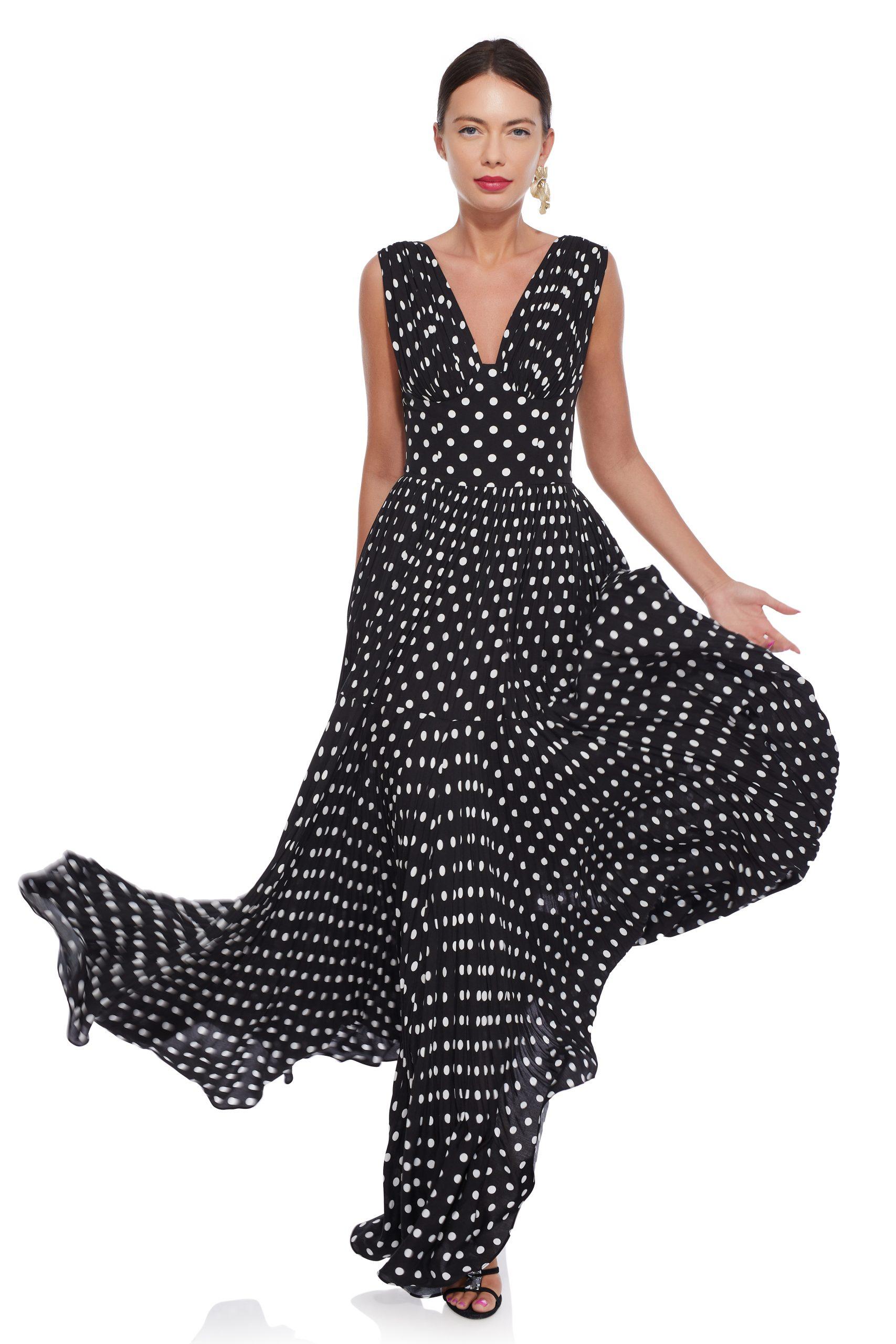Long polka dots dress