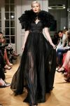 Long black silk evening dress