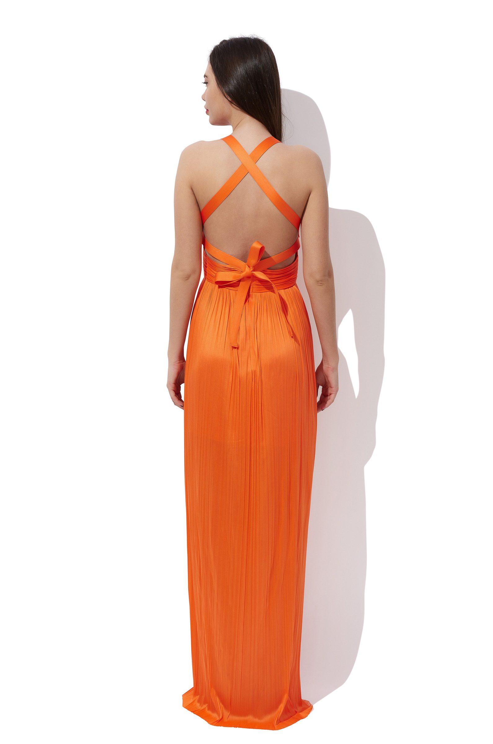 Wrapped silk corset dress