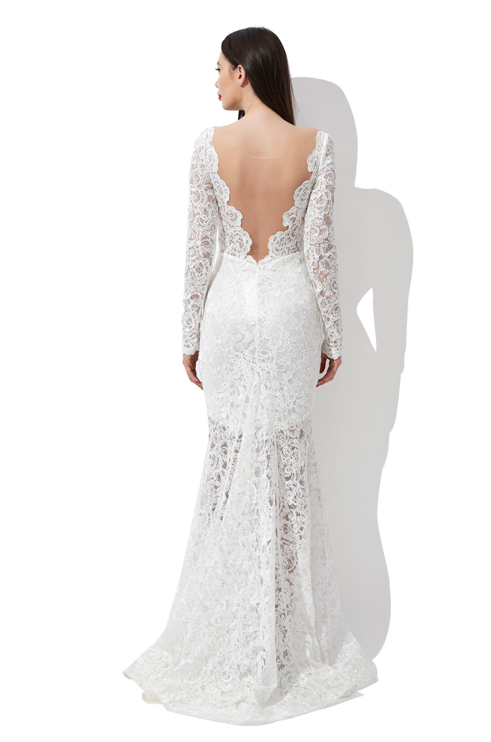 Floral lace mermaid bridal